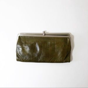 HOBO Olive Green Lauren Double Side Wallet Clutch